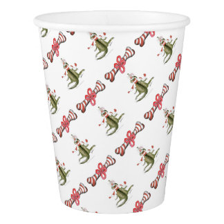 reds football soccer dog surprise treat paper cup