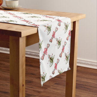 reds football soccer dog surprise treat short table runner