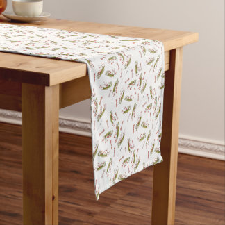 reds soccer dog bones short table runner