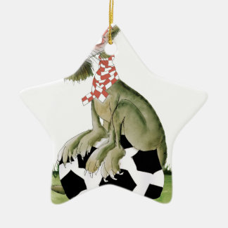 reds soccer dog happy supporter christmas ornament