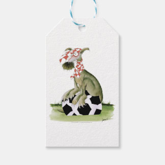 reds soccer dog happy supporter gift tags
