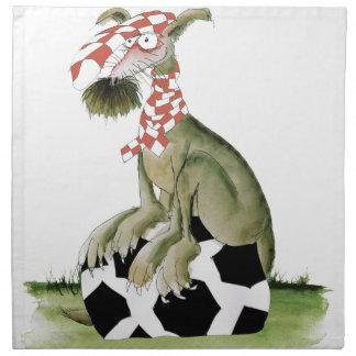 reds soccer dog happy supporter napkin