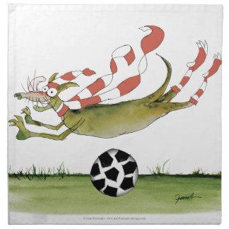 reds soccer dog napkin