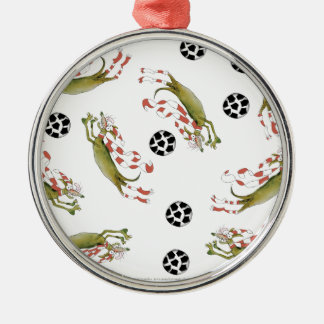 reds soccer dogs christmas ornament