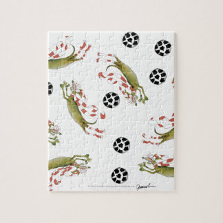 reds soccer dogs jigsaw puzzle
