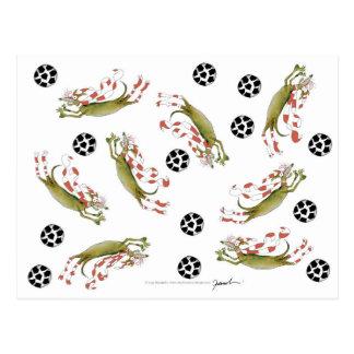 reds soccer dogs postcard