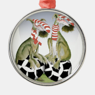 reds soccer dogs when saturday comes christmas ornament