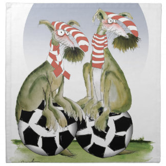 reds soccer dogs when saturday comes napkin