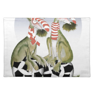 reds soccer dogs when saturday comes placemat
