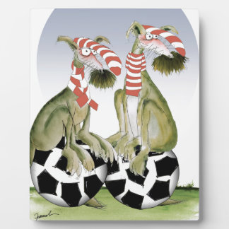 reds soccer dogs when saturday comes plaque