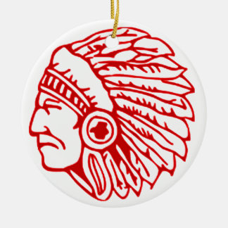 Redskin Red Indian Christmas Ornament
