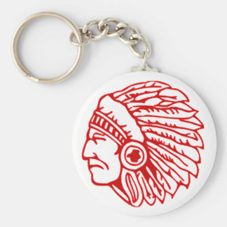 Redskin Red Indian Key Ring