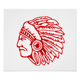 Redskin Red Indian Poster