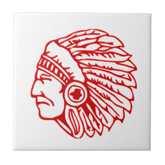 Redskin Red Indian Small Square Tile