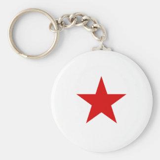 redstar basic round button key ring