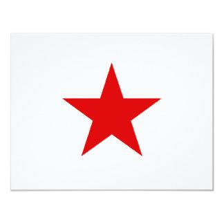 "redstar 4.25"" x 5.5"" invitation card"
