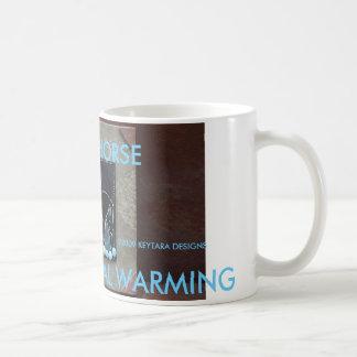 REDUCE GLOBAL WARMING, R... - Customized Basic White Mug