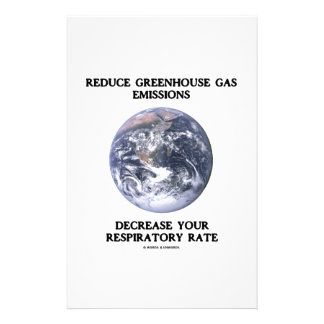 Reduce Greenhouse Gas Emissions Decrease Humor Stationery