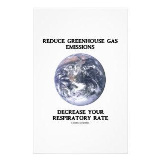 Reduce Greenhouse Gas Emissions Decrease (Humour) Stationery Design