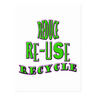 Reduce Re-Use Recycle Postcard