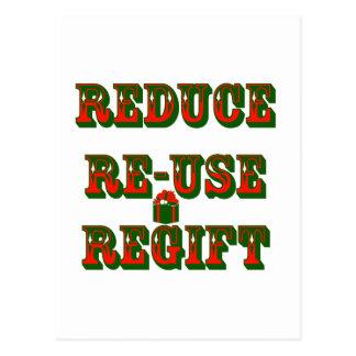 Reduce Re-Use Regift Post Card
