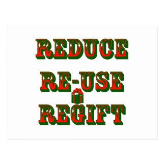 Reduce Re-Use Regift Postcard