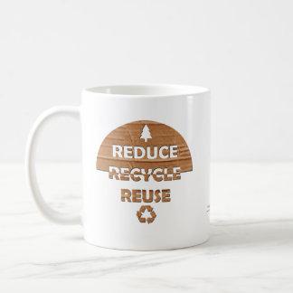 Reduce Recycle Reuse Basic White Mug