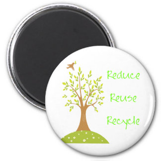 Reduce Recycle Reuse Magnet
