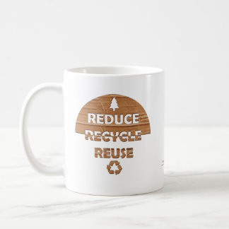 Reduce Recycle Reuse Classic White Coffee Mug