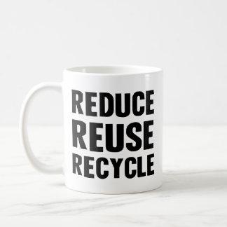 Reduce Reuse Basic White Mug
