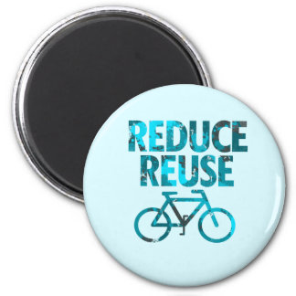 Reduce Reuse Bicycle 6 Cm Round Magnet