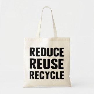 Reduce Reuse Budget Tote Bag