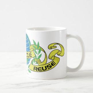 Reduce Reuse Recycle (2) Basic White Mug
