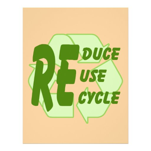 Reduce ReUse Recycle 2 Flyers