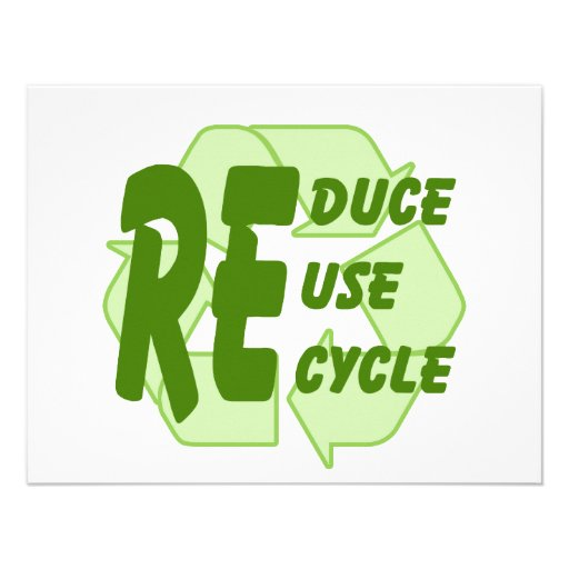 Reduce ReUse Recycle 2 Personalized Announcement