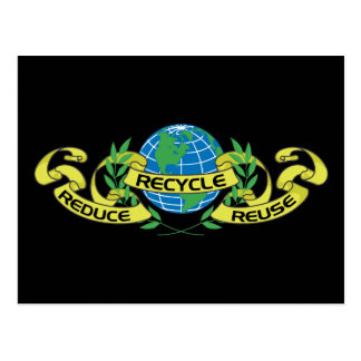 Reduce Reuse Recycle (2) Postcard