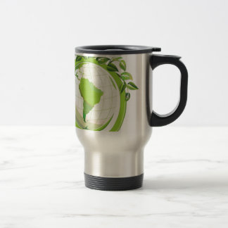 Reduce Reuse Recycle around the world Stainless Steel Travel Mug