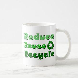 Reduce Reuse Recycle Basic White Mug