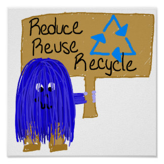 reduce reuse recycle blue print