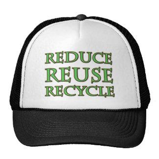 Reduce Reuse Recycle Cap