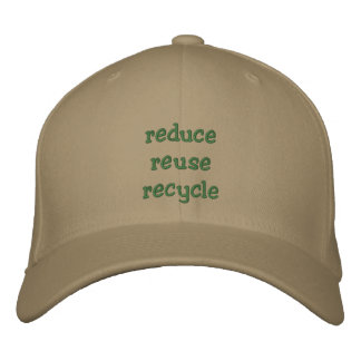 Reduce, Reuse, Recycle - Cap Embroidered Cap