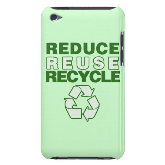 Reduce Reuse Recycle Barely There iPod Cases