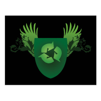 Reduce Reuse Recycle Crest Postcard