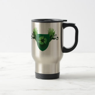 Reduce Reuse Recycle Crest Travel Mug