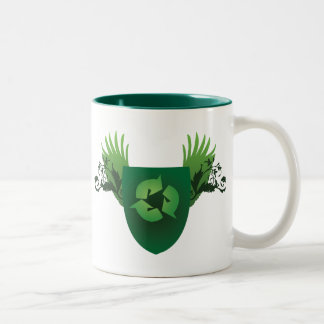 Reduce Reuse Recycle Crest Two-Tone Mug