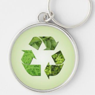 Reduce Reuse Recycle Earth Day Premium Keychain