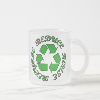 Reduce Reuse Recycle Frosted Glass Mug