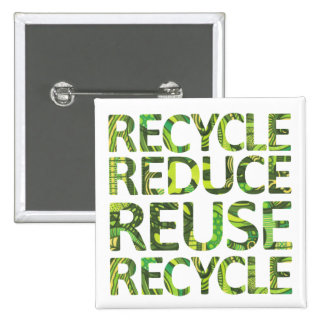 Reduce Reuse Recycle Go Green Button