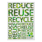 Reduce Reuse Recycle Go Green Poster