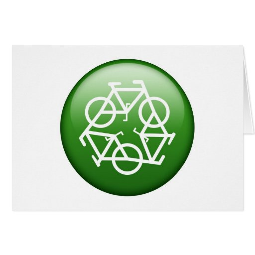 Reduce Reuse Recycle Green Bicycle Cards